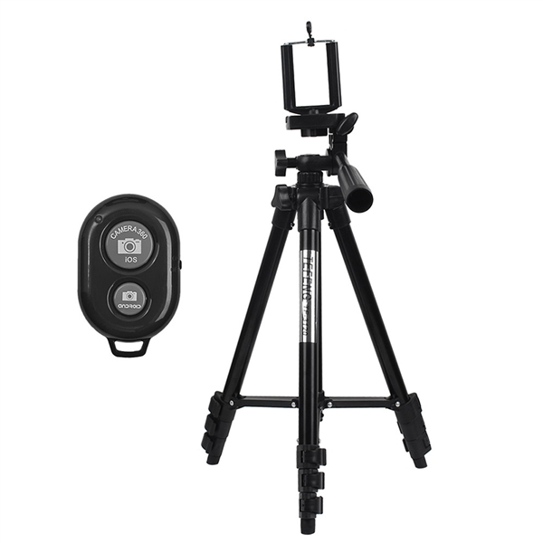 1M(39.37-Inch) Mobile Phone Camera Tripod Photo for Live Streaming Tripod+Bluetooth